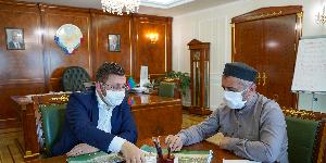 Ахмад Кахаев встретился с мэром Махачкалы